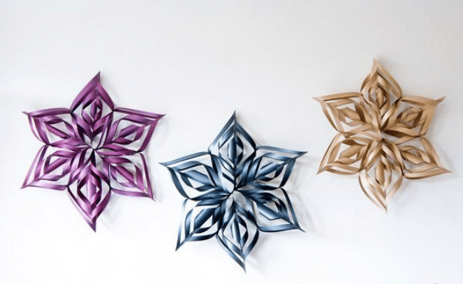 Объемные снежинки из бумаги своими руками, пошаговые инструкции по созданию 3D снежинок