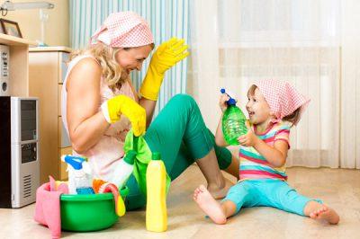 Уборка детской комнаты