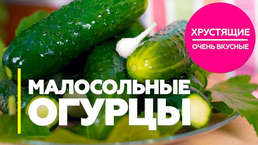 Хрустящие малосольные огурцы 4 рецепта быстрого приготовления!