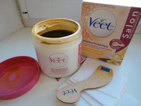 Использование теплого воска Veet для депиляции