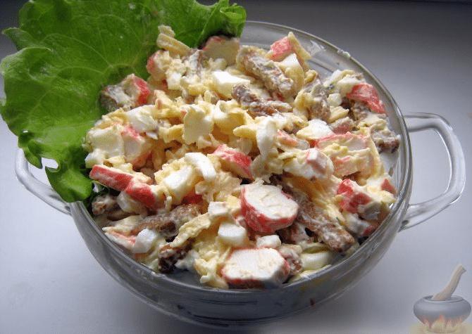 Салат с крабовыми палочками по классическому рецепту. 8 рецептов салата с рисом, помидорами, грибами и кукурузой