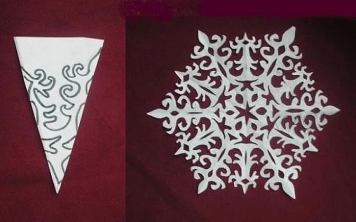 Шаблоны для вырезания снежинок из бумаги своими руками на окна